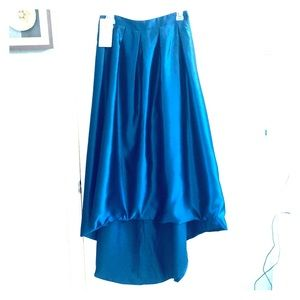 Size 8 high low blue skirt